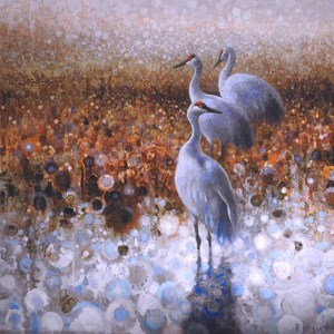 ewoud-de-groot-wildlife-art-artist-animals-birds-oil-painting-canvas-linen-three-sandhills
