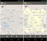 Google Maps 6.0 for Android updates your indoor location as you move, and will even refresh the map when you move to a different floor. Image: Courtesy of Google