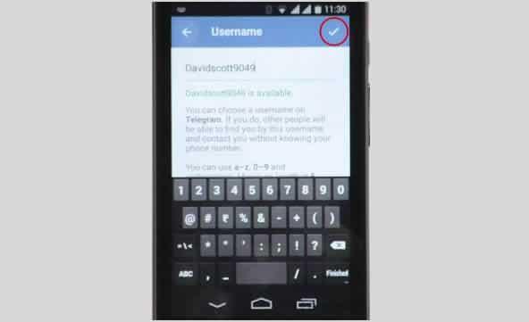 make username on telegram 7