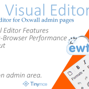Admin Visual Editor (TinyMCE) - Oxwall Plugin