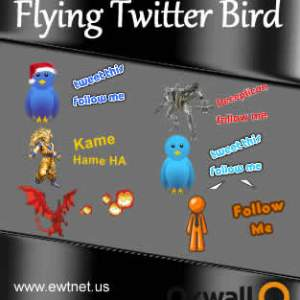 Oxwall Flying Twitter Bird plugin
