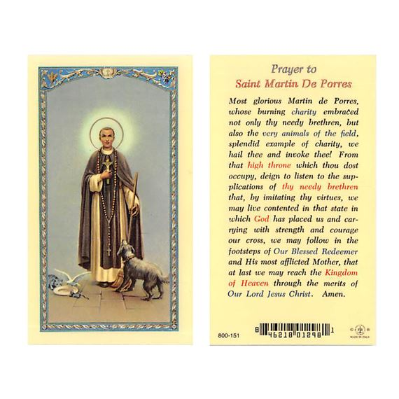 laminated holy card st