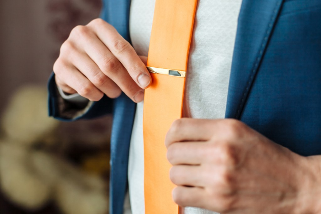 Tie Clip Suit Accessory
