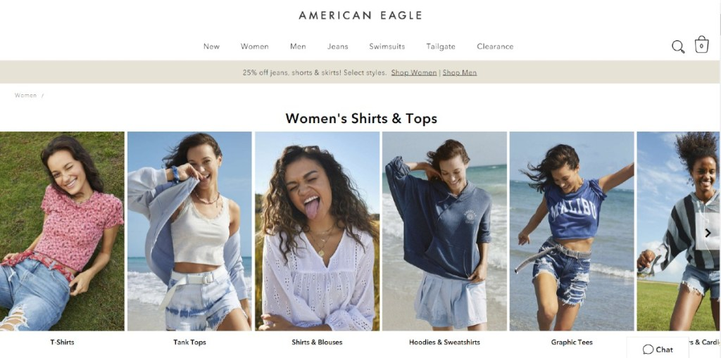 american eagle outfitters website