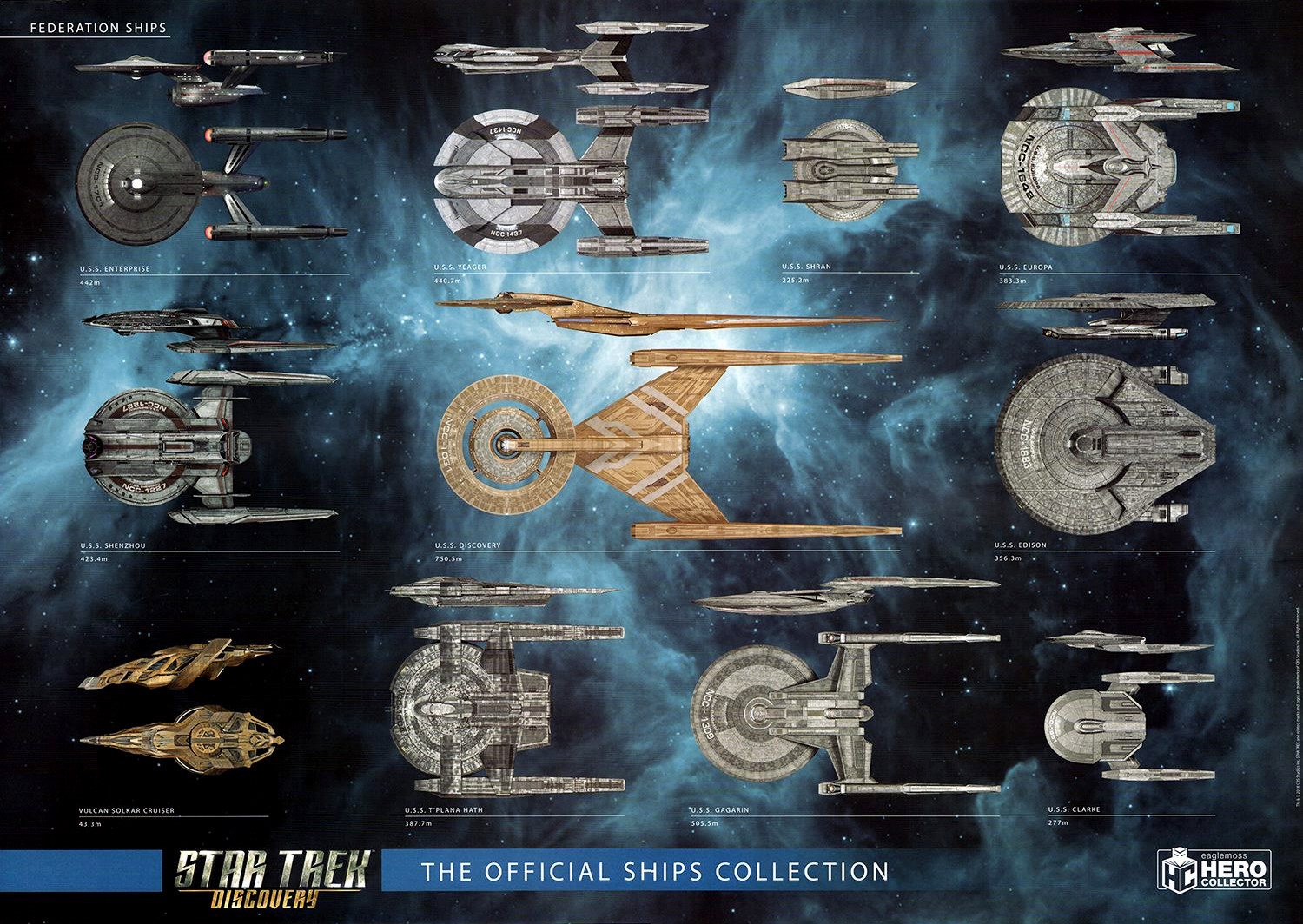 hight resolution of all sizes according to the official starships collection scale chart