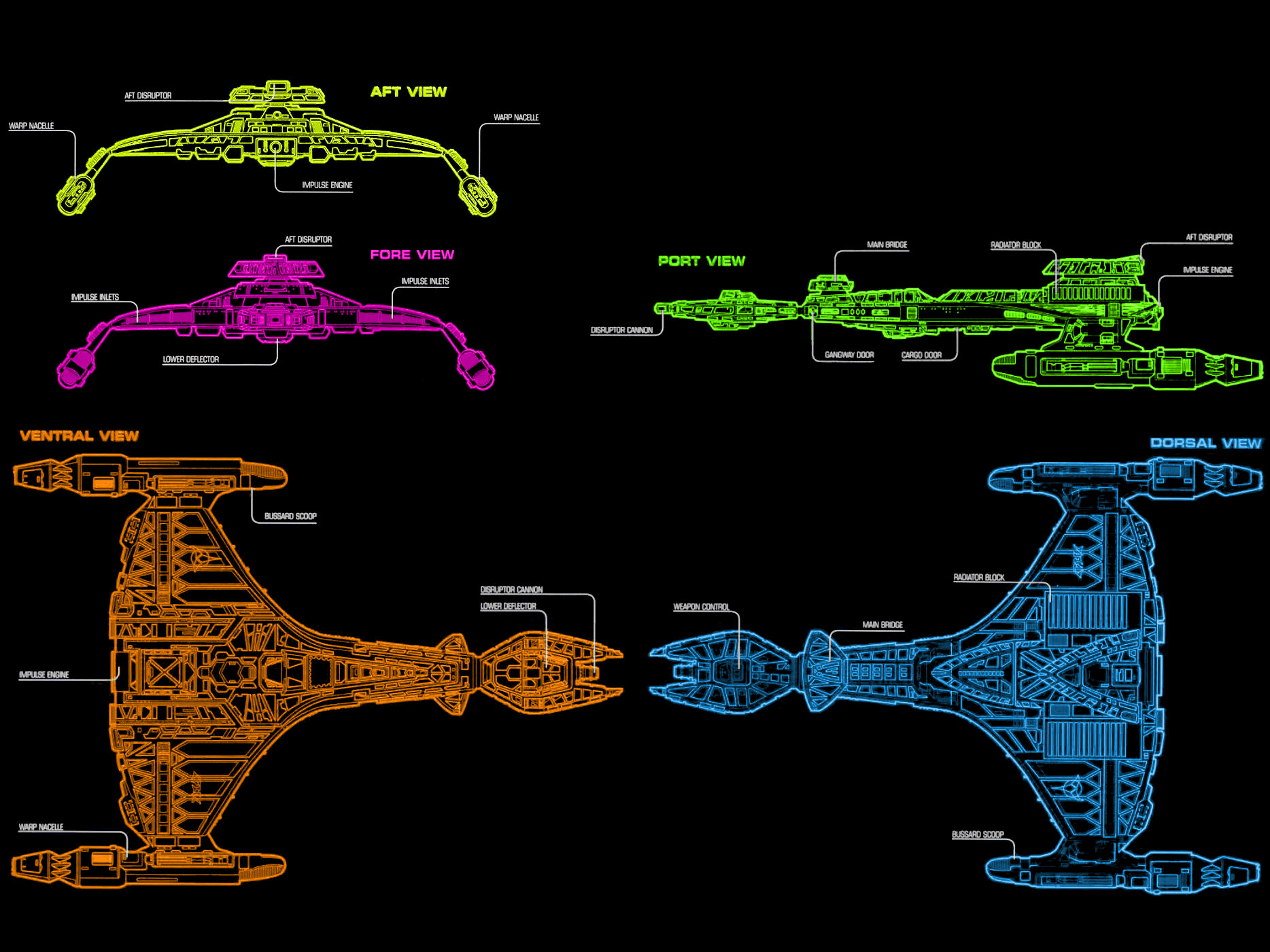 hight resolution of schematic top and side star trek encyclopedia ii