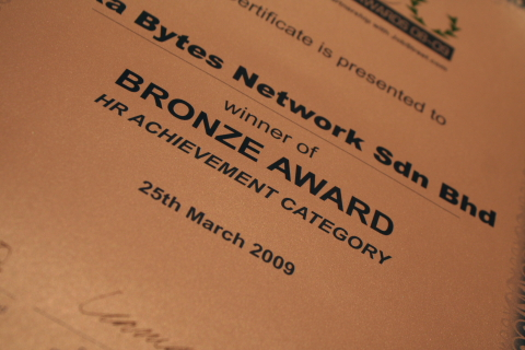Winner of Bronze Award HR Achievement Category