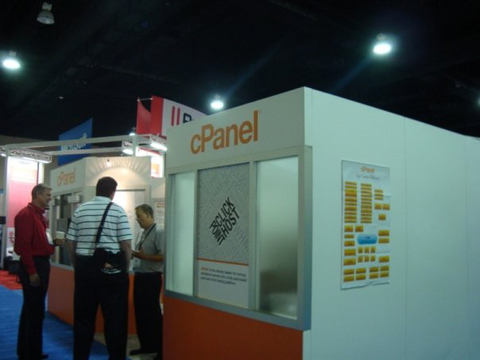 cPanel booth HostingCon 2009 event photo