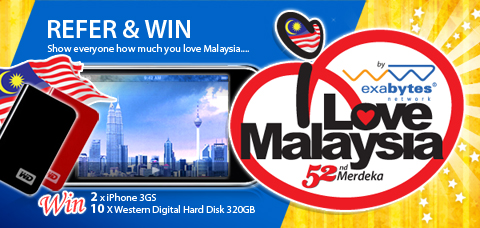 iLoveMalaysia contest - exabytes network