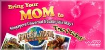 bring your mum to Singapore Universal Studio