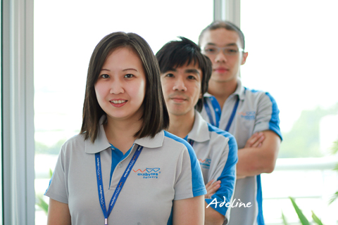 Adeline Tan, the manager of Exabytes' Business Development Department - International Division
