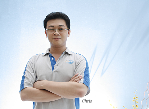 Chris Lee, one of the infamous workaholics of Exabytes