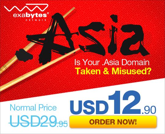 Cheap Asia Domain by Exabytes.com