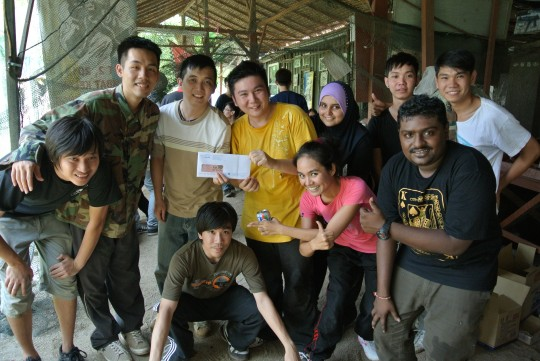 Exabytes' Annual Paintball Event award team 3