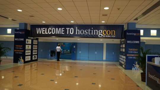 HostingCon 2014 entrance