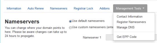 Nameservers Management Tools