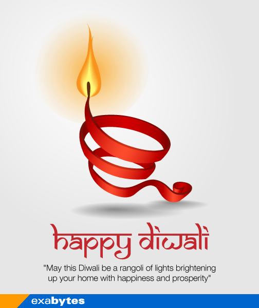Happy Diwali - may this diwali be a rangoli of light brightening up your home with happiness and prosperity - exabytes