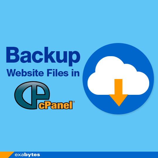 backup website files in cPanel