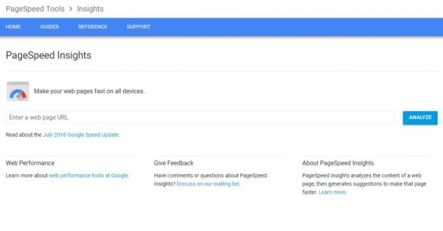 PageSpeed insight screenshot