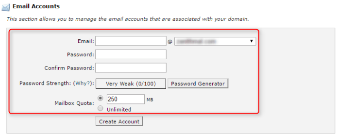 Info-to-create-new-email-account