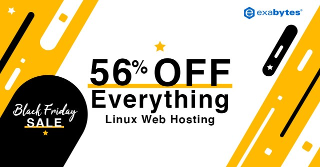 black friday sale - 56% off everything web hosting