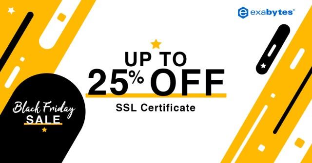 black friday sale - SSL certificate 25% off