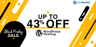 black friday sale - WordPress hosting up to 43% Off