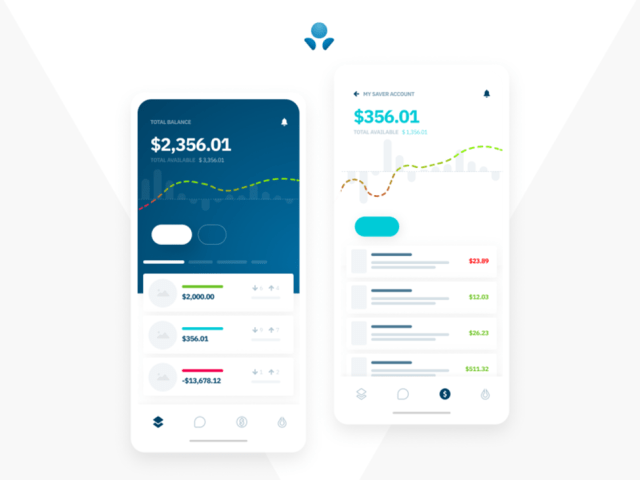A clean finance, banking or crypto, wallet app ui - ux design by michael henning