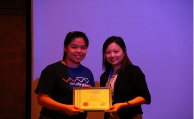 Certificate of Appreciation by Exabytes Network to Ms Sherlyn Chong