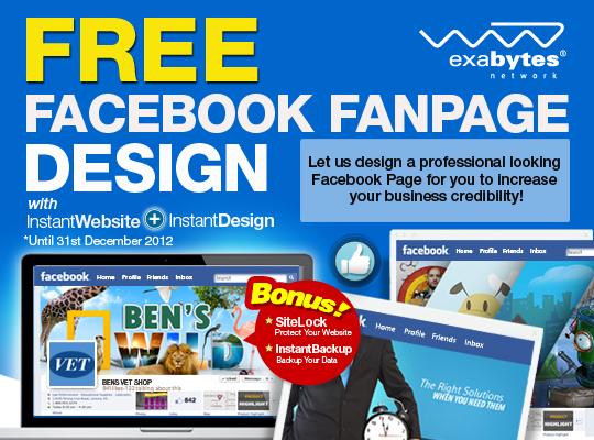 Exabytes Instant Website Free Facebook Page Design