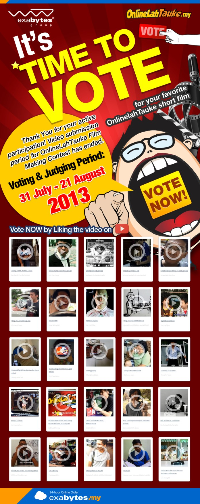 it's time to vote for onlinelahtauke