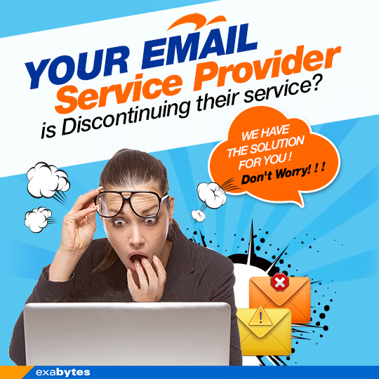 Your email service provide is discontinuing their service