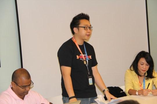 Chan Kee Siak giving speech