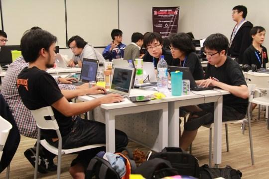 participants at Exabytes Game Jam 2013