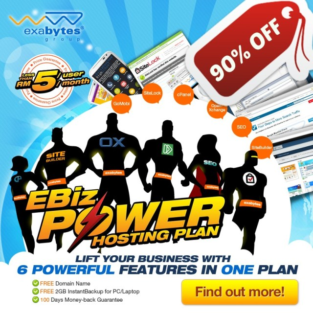 Exabytes EBiz Power Hosting Plan