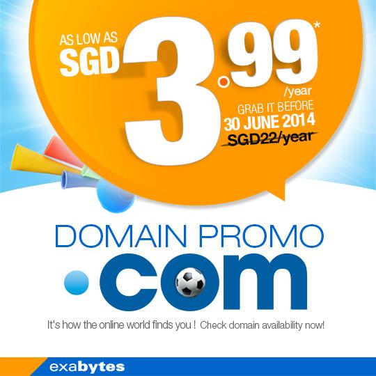 RM9.99 .com domain name promo