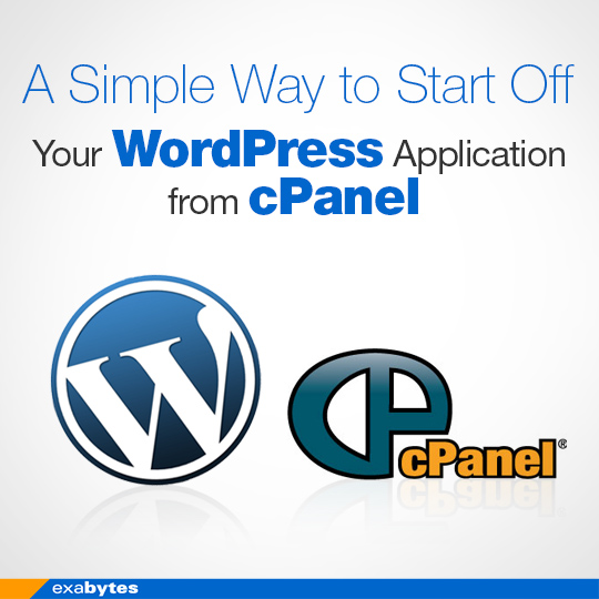 a simple way to start off your WordPress application from cPanel