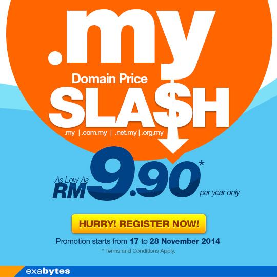 .my domain price slash RM9.90