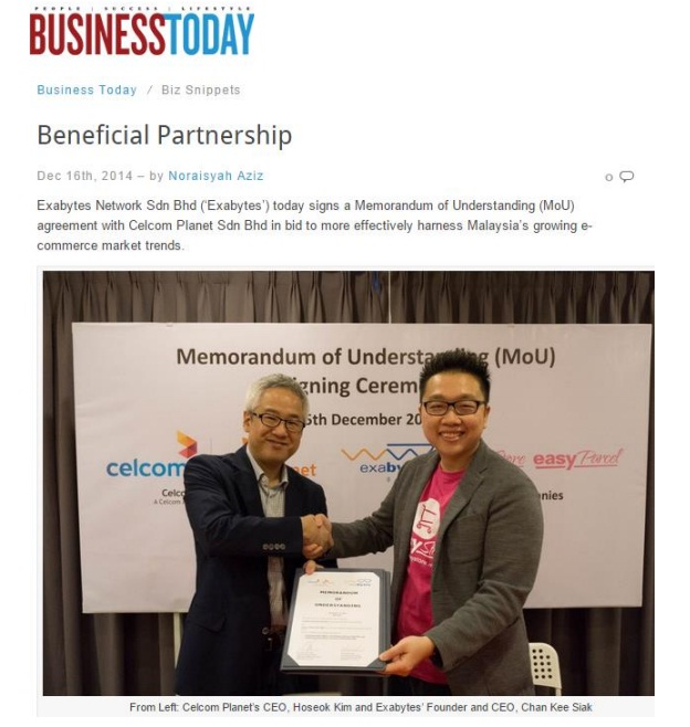Beneficial Partnership - Business Today (news clipping)