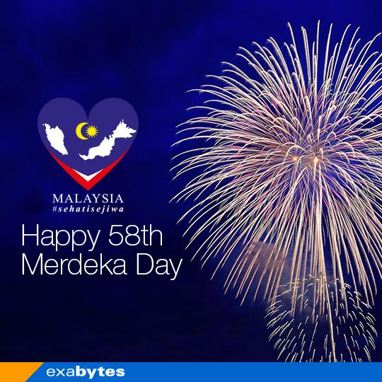 happy 58th merdeka day