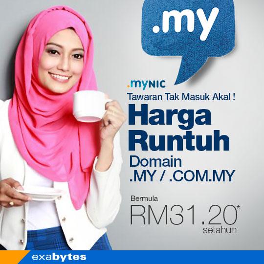 Promosi Domain .COM.MY / .COM.MY