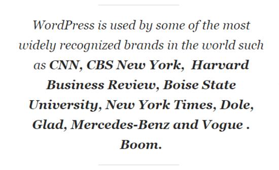 brand with wordpress