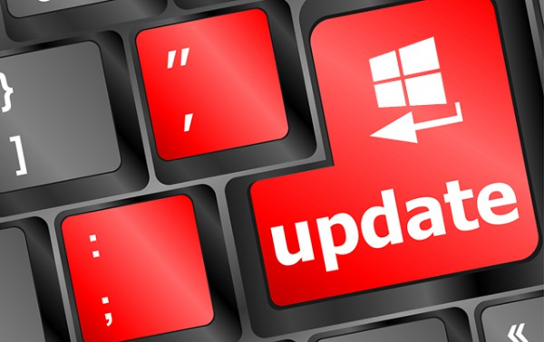 Windows Update red button keyboard