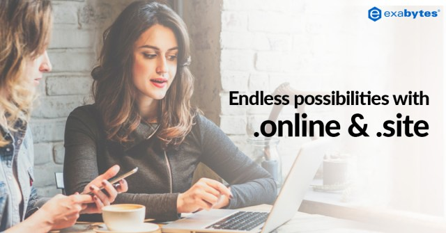 endless possibilities with .online & .site