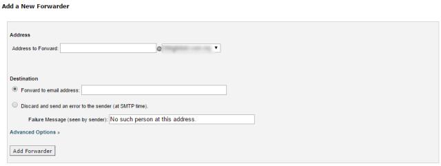 New email farward rules