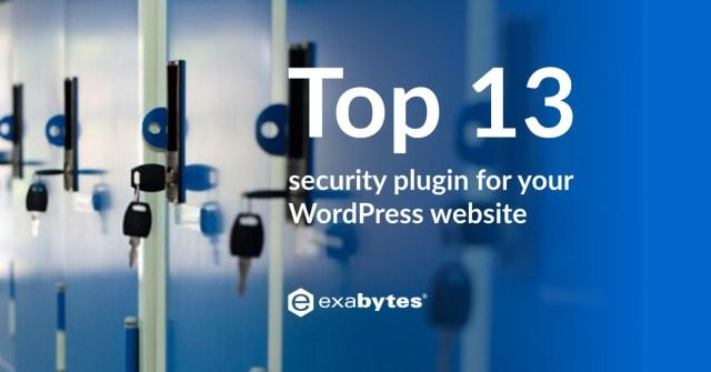 top 13 WordPress security plugin website in 2020