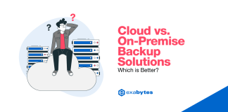 cloud versus on premise backup solution