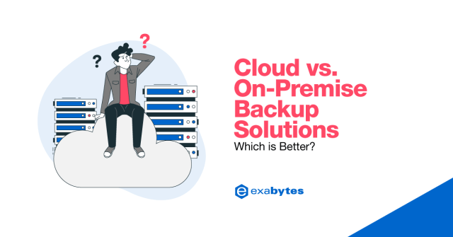 cloud versus on premise backup solution