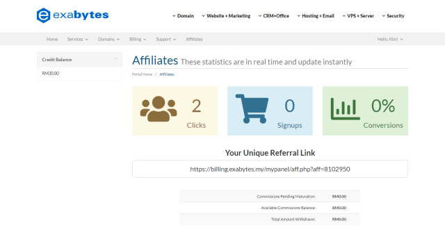 Exabytes Malaysia Refer a Friend - Referral Portal