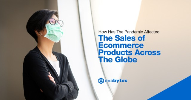 How has the pandemic affected the sales of ecommerce products across the globe